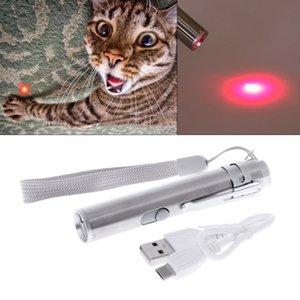 Дешевые Cat игрушки 3 в 1 Cat LED Chase игрушки лазерная указка Pen USB аккумуляторная фонарик Pen