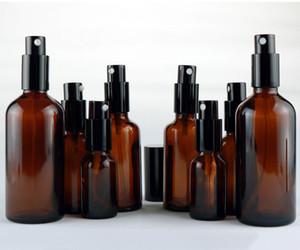 15ml 30ml 50ml 100ml Amber Glass Essential Oil Spray Bottles Mist Sprayer Container Travel Refillable Bottle Transparent Brown blue clear