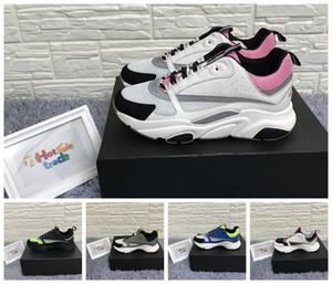 Knit B22 Sneaker rosa pallido tecnica e Grigio in vitello Scarpe in vitello riflettente B22 scarpe da tennis delle donne B22 uomini Scarpe da corsa
