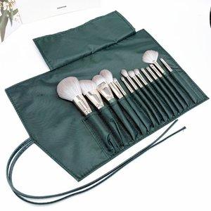 14pcs Wooden Makeup Brush Set Tools Powder Foundation Eyeshadow Lip Eyeliner Blush Marble Face Makeup Brushes