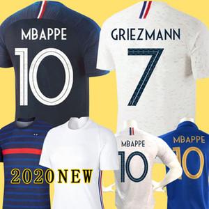 France 2018 GRIEZMANN MBAPPE 2 estrellas camiseta de fútbol POGBA KANTE DEMBELE VARANE MATUIDI Camisetas de fútbol kit de mujeres niños maillot de foot