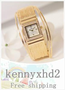 New watch high-end women's watch full diamond square chain watch