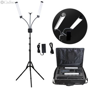 onsumer Electronics Cadiso Photographic Lighting Double-arm Video Fill Light Two Tube LED Makeup Phone Camera Lamp with Tripod Multimedia...