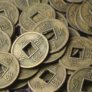 1/100 piezas de la antigüedad de la moneda fortuna la suerte del dinero fortuna Riqueza china Feng Shui Lucky Ching / Monedas antiguo juego educativos Diez Emperadores