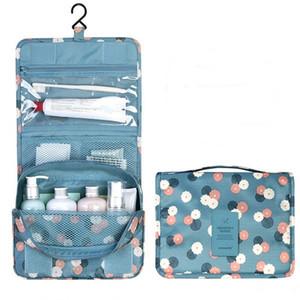 Sacos de Cosméticos das mulheres Saco de Maquiagem Moda Unisex Portátil Dobrável Multifunções À Prova D 'Água Saco de Lavagem Grande Capacidade de Suspensão Tipo Make Up Bag