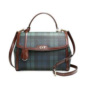 Old cobbler 2020 Luxury Women's Tote Crois Ette top quality handbags Messenger bag Plaid Coated canvas DHL free delivery