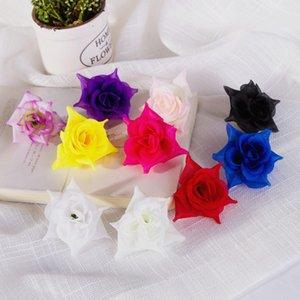 10 цветов 5 см Поддельные Роза Цветок Голова Искусственные Декоративные Моделирование Шелковые Цветы Для Свадьбы Украшения Дома Цветы Аксессуар Rise