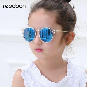Reedoon Crianças Óculos De Sol Moda Polarizada Espelho Uv400 Hd Lente de Metal Quadro Bebê Eyewear Bonito Para Meninas Meninos Oculos Infantil 2958 C19041001