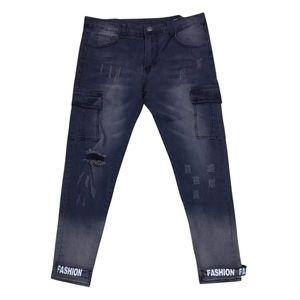 Herramientas Boutique de moda Stretch Casual Mens Jeans Skinny Jeans Hombres Straight Mens Denim Hombre Stretch Pantalones Pantalones 5.24