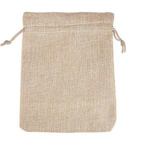4 tailles d'origine couleur jute sac cordon WeddingChristmas emballage pochettes Cadeau Sacs Petit Bijoux Sachet Mini Jute sacs