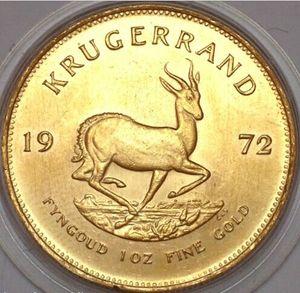 1972 남아프리카 공화국 Krugerrand 금화 1 온스 기념 동전 기념 기념품 기념품 남아프리카 공화국
