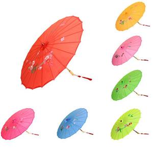Японский Китайский Восточный Зонтик ручной работы ткань Зонтик Для Свадьбы Фотографии Украшения зонтик реквизит конфеты цвета SN2390
