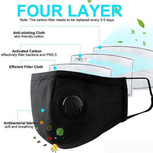 Cotton face masks Have In Stock! Foldable Nonwoven masks With valve type Anti Dust washable Face Masks by fast shipping
