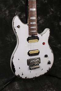 Новый пользовательский лет Eddie Van Halen Wolf гитара Music Man Ernie Ball Ось марочные Белый Relic Электрогитара Red Button Tremolo Bridge