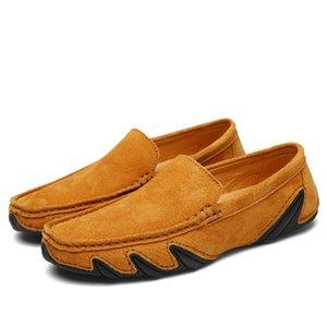 Комфортные Повседневный Мужская обувь Мокасины Кроссовки кожаные Flats Дизайнерские осьминога ноги вождения обувь Плоский каблук Отдых Drop Доставка