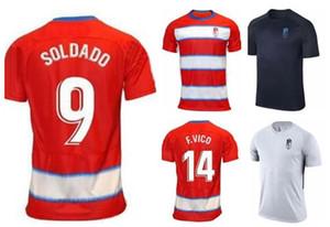 Личность Гранада Customized 19-20 Сольдадо 9 A.Puertas 10 Herrera 21 Domingos D 22 F.vico 14 Кини 17 тайские трикотажные изделия футбола рубашки