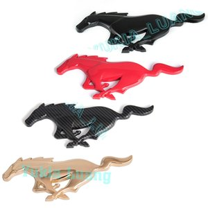 8inch 3D Running Pony Horse Front Grille Emblem Sticker for Mustang 2010+