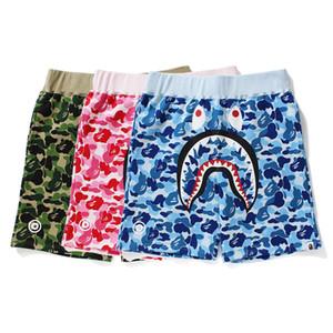 Bape Mens Designer Mens Shorts Popular di alta qualità Logo Shark Stampe camuffamento pantaloni di scarsità delle donne degli uomini del progettista Pantaloni