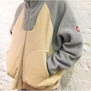 Hip Hop CAVEMPT con capucha Hombres Mujeres Streetwear Moda Casual Otoño Invierno Caliente Hairy albaricoque cremallera CAV Empt C.E CE sudaderas T200531