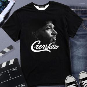 Unisex Hip Hop Rap Tee R.İ.P Erkek Nipsey hussle tişörtleri 3D Crenshaw Tişört