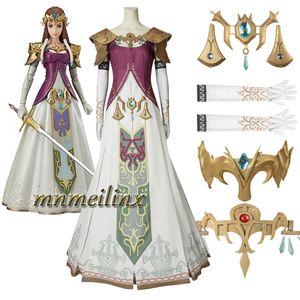 Nouveau La légende de Zelda: Twilight Princess Cosplay Costume Zelda Princess Accessoires Halloween Vêtements Bbeautiful Dress