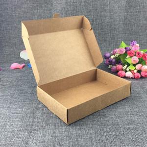 Freies Verschiffen 20pcs Kraftpapier-Verpackungspapier-Geschenk-Kasten, Kraftpapier-Kasten für das Verpacken, faltbare quadratische Süßigkeitskästen, Tuchkasten