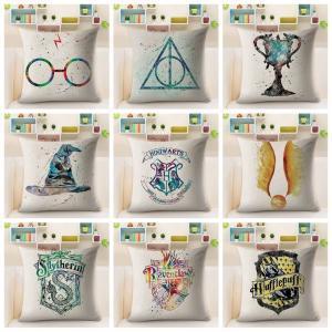 Гарри Поттер наволочка хлопок белье чехлы декоративные наволочки для дивана автомобиля Hufflepuff площадь наволочки 45*45 см GGA1576