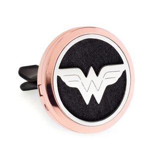 super eroe più opzioni oro rosa Magnete Open Car Diffusore vent 30mm Profumo Locket deodorante 10pcs pastiglie di olio libero