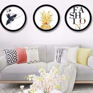 Living Room Retro Chinese-Style Photo Frame 6-Inch 7-Inch 8-Inch 10-Inch 20-Inch A4 Bedroom Simple round Framed Wall Creative