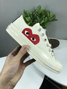 1970s White Canvas Skate Shoes Originals Classic 1970 Canvas Shoes Jointly Name CDG Play Big Eyes Non-Skid Sports Casual SneakersEUR36-44