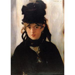 Edouard Manet tarafından ünlü portre resimleri tuval sanat Menekşe bir buket ile Berthe Morisot el boyalı Yüksek kaliteli