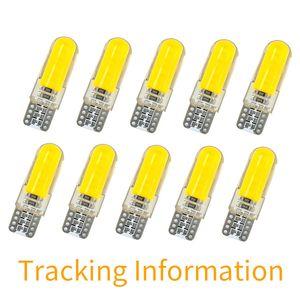자동차 스타일링 신호등 자동 50X T10 W5W LED 자동차 실내등 COB 실리콘이 12V 194 501 웨지 측면 주차 전구