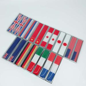 Lado do carro Fender Faca Adesivos Alemanha Itália Inglaterra França EUA Sueco Canadá Bandeira De Metal Emblema Emblema Decalques