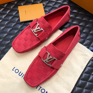 Sapatos de alta qualidade homens designer de moda de luxo tênis superstars de couro real Ervilhas Planas sapatos de conforto Respirável sapatos casuais Com caixa