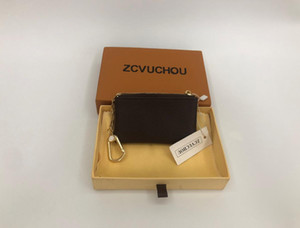 2020 Francia chiave portafoglio mini raccoglitore sacchetto di polvere stile sacchetto della moneta del progettista degli uomini delle donne della signora del cuoio borsa della moneta di dialogo il numero di serie
