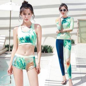 Surf flottant Wetsuit manches longues Protection contre le soleil Vêtements de Split Bikini Jellyfish Servi plage Maillots de bain Femme à séchage rapide