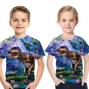 2020 New Children T-shirt animal dinosaur 3D Boys girl T-shirt Kids Short Sleeve T-shirts Casual Baby Clothing