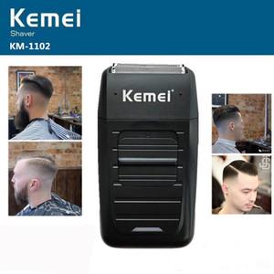 le plus récent Kemei KM-1102 rasoir sans fil rechargeable pour hommes lame double réciproque barbe rasoir soins du visage multifonction forte tondeuse