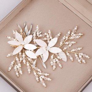FORSEVEN женщины блестящий Кристалл заколка для волос Белый цветок форма волос захваты свадебные ювелирные изделия аксессуары JL