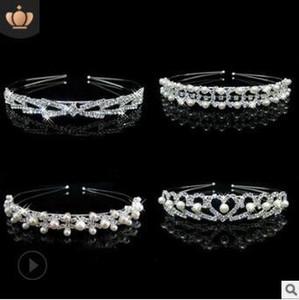 40pcs / Lot Diy semplice nastro a mano perla Drill fascia 4 stili diamante della sposa Bands Foto testa di capelli che designano gli attrezzi Ha855