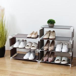 Vanzlife Многофункциональный Многоэтажный стойки обуви Организатор Бытовая ткань для хранения Стеллаж Простой Общий провинциальный Space Rack