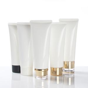 100g Weiß Kunststoff Creme Lotion Schlauch Flasche Gesichtsreiniger Haarspülung Abgabe Reise Größe Kosmetische Weichen Schlauch mit Verschließen