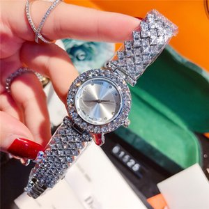 Top-Qualität Luxus-Frauen-Uhr-Mode Rose / Silber Voll Diamanten Stahl Armband Kette populäre Dame beobachtet Großhandelspreis Besten Tropfen Verschiffen