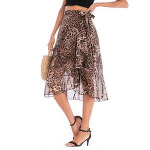 Summer Fashion Womens Leopard Saias 2020 New Arrival Mulheres Impresso vestidos de alta qualidade Casual Vestido Vestuário tamanho S-XL