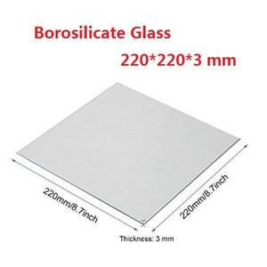 Прозрачная боросиликатная стеклянная тепловая кровать 220x220x3 мм для MK2 / MK2A ANET A8 A6 Mendel Reprap 3D-принтер Creality Ender-3S 3D-принтер поверхность коврика