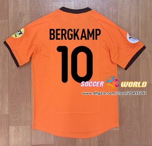 Retro 2000 Netherlands Final soccer jersey Vintage Holland football shirts Classic home BERGKAMP DAVIDS KLUIVERT SEEDORF SPROCKEL
