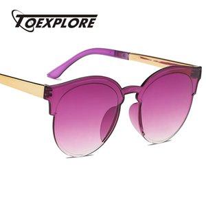 TOEXPLORE Fashion Women Cat Eye Sunglasses Men Brand Designer Eyewear Vintage Retro Luxury Mirror Sun Glasses UV400 Best Gifts
