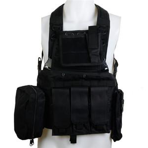 CQC RRV Molle tattici maglia nera Armatura caccia di assalto di combattimento Chest Rig Polizia Paintball Hunting Vest