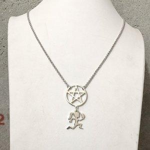 НОВЫЙ топорик Hatchetgirl ICP звезда твистид ожерелье из нержавеющей стали очарование Factory Outlet оптом Высокая полировка хороший подарок