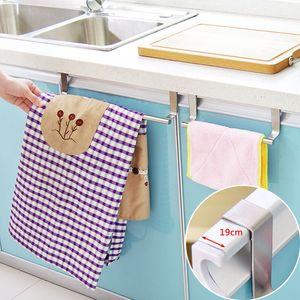 Towel Stand Rack Kitchen Accessories Stainless Steel Door Hanger Cupboard Storage Rack Holder Kitchen Gadgets Storage Shelf